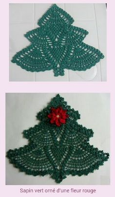 Cute Christmas Tree, pattern was missing. Some of us can make by looking at the crochet piece.