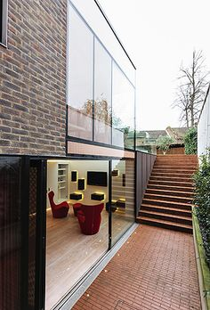 lower-ground extension + steps - Hampstead - Shahriar Nasser