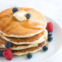 Easy pancake recipe that makes light, fluffy and flavorful pancakes! *Note from Pinner Ebony (mrsglassy): I had to add about 3/4 of a cup to a whole cup more of milk. Without it, the batter is too thick.*