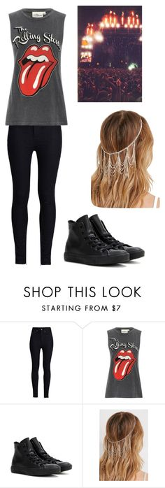 """""""Rolling Stones concert"""" by alannaxjonnesx ❤ liked on Polyvore featuring Rodarte, Converse, Forever 21, women's clothing, women's fashion, women, female, woman, misses and juniors"""