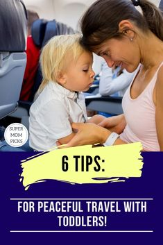 Travel with toddlers can be hectic.  I've put together some of my best tips for surviving a long trip (plane, train, or automobile) with toddlers. #supermompicks #travelwithtoddler #kidstravel #airplanetoys #momlife #traveltips #travelhacks