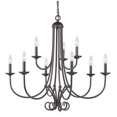 Cornerstone Lighting 1509CH Williamsport 9 Light 2 Tier Candle Style Chandelier Oil Rubbed Bronze Indoor Lighting Chandeliers