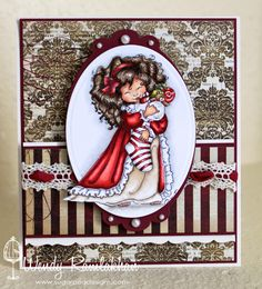 SugarPea Designs: Peppermint Twist...love this stamp & darling card!!!