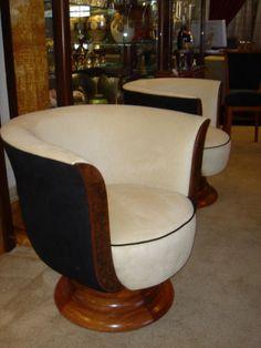 art deco swivel chairs antique deco wooden chair swivel