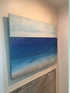Beach on Cedar Slats - Indoor/Outdoor Decor - Stuart, FL artist: Tony Glessner by tglesscreations on Etsy Abstract Canvas, Wall Canvas, Oil Painting On Canvas, Wood Wall Art, Painting Abstract, Tropical Artwork, Reclaimed Wood Art, Pallet Art, Beach Art
