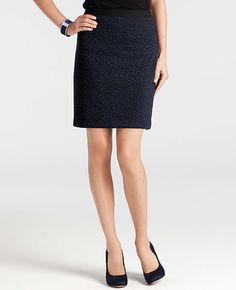 Petite Leopard Jacquard Skirt