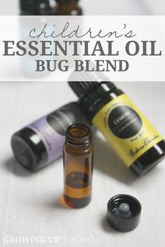 Essential Oil Bug Blend For Children | GrowingUpHerbal.com | One child-friendly essential oil bug blend -- 3 ways to use it.