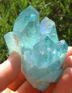 Aqua Aura Quartz via FB