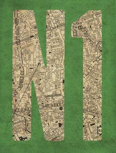 Postcode Map - East End Prints East London, Prints For Sale, Framed Art Prints, Map, Cool Stuff, Cover, Artist, Location Map