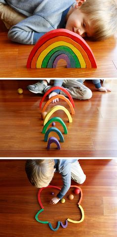 Top-Notch Waldorf and Montessori Inspired Toys - Modern Parents Messy Kids I cannot get enough of these lovely handmade wooden toys - I especially love the wooden matching game as stocking stuffers. Handmade Wooden Toys, Wooden Diy, Wooden Baby Toys, Toddler Toys, Toddler Activities, Natural Toys, Montessori Baby, Waldorf Toys, Waldorf Crafts