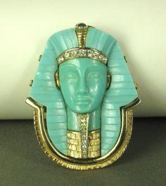 Marcel Boucher Egyptian Revival King Tut Pin