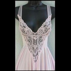 Vintage Orchid Olga Nightgown Size Medium Sheer Back
