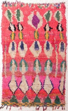 Moroccan, Boucherouite Berber Tribal Carpet - Region: n/a - Date: n/a Textiles, Textile Patterns, Textile Art, Print Patterns, Color Patterns, Tapis Design, Boho Home, Magic Carpet, Rug Hooking