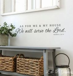 As for me and my house We will serve the Lord- Joshua 24 15- #2-Vinyl Wall Decal-Bible Verse Vinyl Wall Decal Lettering Decor