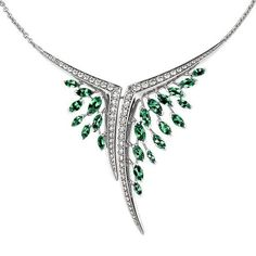 Womens Necklaces Shaun Leane Diamond And Emerald Aerial Necklace ($24,140) ❤ liked on Polyvore featuring jewelry, necklaces, shaun leane jewelry, ribbon jewelry, emerald diamond necklace, ribbon necklace and emerald diamond jewelry