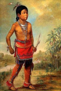 Seminole Osceola Boy Nick A No Chee American Indian 1840 by George Catlin Repro | eBay