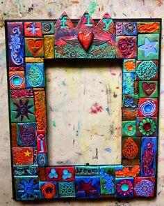 Greene Earth Originals: Free tutorial! Polymer clay mosaic tiles galore...