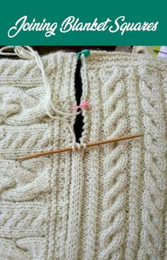Joining Blanket Squares - knitting is as easy as 3 knitting is in progress . - Knitting for beginners,Knitting patterns,Knitting projects,Knitting cowl,Knitting blanket Knitting Help, Knitting Blogs, Knitting Stitches, Knitting Patterns Free, Knit Patterns, Knitting Projects, Easy Knitting, Knitting Squares, Knitting Needles