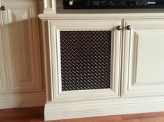 Another mesh option for cabinet doors entertainment center | Traditional Home speaker mesh Design Ideas, Pictures, Remodel and ...