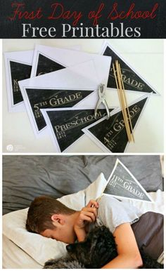 First Day of School Free Printable Pennants | Get the perfect First Day of School photo with these printable pennants. Get your free printable on http://TodaysCreativelife.com