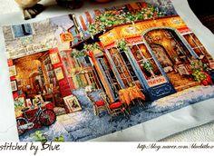 my love cross stitch: Dimensions - European Bistro
