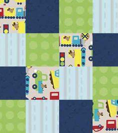 Nursery Fabric- Transportation Patch 3D Applique & nursery fabric at Joann.com, $12/yd for bulletin board