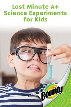 Your little ones will love these kid-friendly, Last Minute A+ Science Experiments for back-to-school season! Make cleanup a breeze by keeping a stash of Bounty Paper Towels on hand during every messy kids' activity.