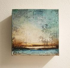 abstract painting sculptur original painting 8x8