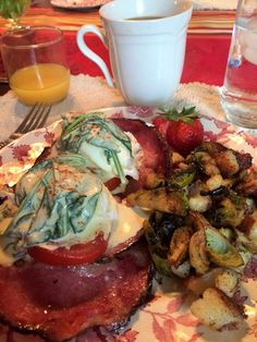 Irish Bacon eggs Benedict from the Blackberry Inn B&B in Watkins Glen ...