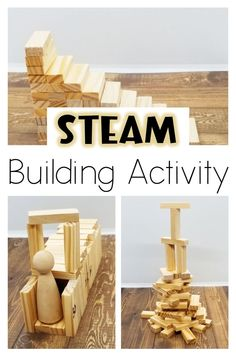 Use building blocks in a whole new way! Plastic or wooden blocks will work for these STEAM activities for elementary. Different aged children can build and be challeged with these STEAM building activities. Printable cards also available. #steamactivitieselementary #steamactivities #stem #stemactivities #stemactivitieselementary Math Activities For Kids, Steam Activities, Indoor Activities, Hands On Activities, Kids Learning, Summer Activities, Science Crafts, Stem Science, Science Experiments Kids