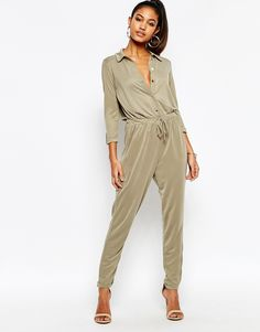 32ae6d1c524d Lipsy Lightweight Jumpsuit With Drawstring Waist at asos.com