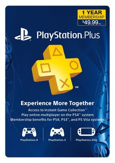 1-Year PlayStation Plus Membership $40 + Free Shipping