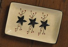 Star Vine Spoon Rest by Park Designs, Star with Vine & Pip Berry Motif, 1 or 2