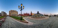 Panorama of Maneg . Panorama of Manege Square and Moscow Kremlin in the Evening, Moscow, Russia .  by Andrey Omelyanchuk on 500px