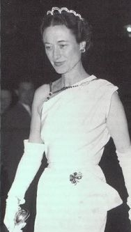 The Duchess of Windsor Tiara: made of diamonds and thought to be sapphire beads.