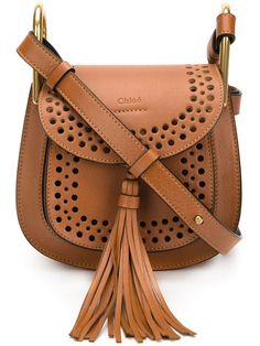 Shop Chloé 'Hudson' shoulder bag in The Webster from the world's best… Big Handbags, Prada Handbags, Vintage Handbags, Black Handbags, Fashion Handbags, Fashion Bags, Chloe Handbags, Leather Tassel, Leather Chain