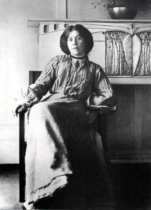 """Margaret Macdonald Mackintosh.  Photographed by Annan, c. 1906.  She lived from 1864-1933 and was married to architect/designer/artist Charles Rennie Mackintosh, who said of his wife, """"I have talent. She has genius."""""""
