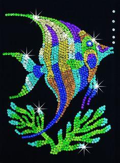 11 best sequin art images on pinterest rhinestones sequins and sequin art angel fish sequin art sequin art craft kits sequin solutioingenieria Gallery
