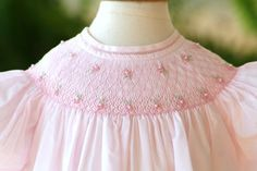 Feltman Bros Girls Pink Dress with Smocked Flowers. Smocked and Classic Children's Clothes and Gifts – FREE SHIPPING on Every Order.