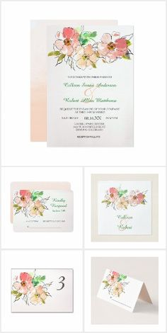 Watercolor Floral Impression Wedding