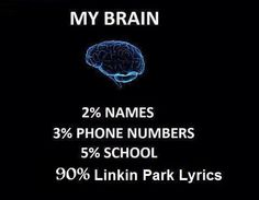 The lyrics section is not devoted to Linkin Park alone...