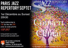 1 er décembre à #Paris  concert #Jazz climat.