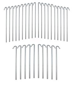 Moishia 9' Length with 1' Hook Galvanized Rust Resistance Steel Lightweight Tent Pegs - Garden Stakes- Includes 4mm diameter heavy duty steel rod >>> Visit the image link more details.