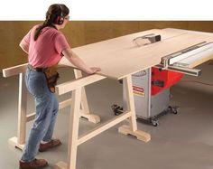 Working Alone | Popular Woodworking Magazine #tablesaw #woodworkingtools