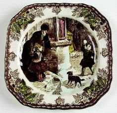 Johnson Brothers Friendly Village Christmas plates.