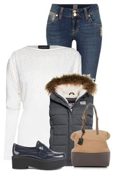 """""""Untitled #12153"""" by nanette-253 ❤ liked on Polyvore featuring River Island, James Lakeland, Superdry, Jil Sander Navy and Fendi"""