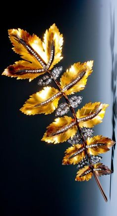 A most unusual antique diamond branch brooch