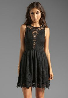 Lulu Lace Dress in Black.