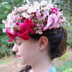 Gorgeous Vintage Floral Hat - silk & velvet