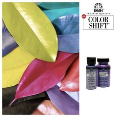 2017 Craft Trends: New Product Innovation at CHA's Creativation, including new FolkArt Color Shift paint, which creates a luster that changes with the light. In love with these bold colors!